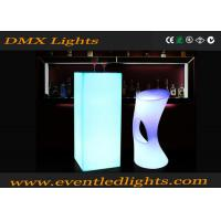 China CE Passed Multi Color Changing commercial portable led cocktail table high top wholesale