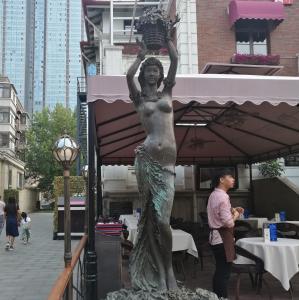 Wholesale Outdoor garden beautiful grace girl bronze sculpture ,customized bronze statues, China sculpture supplier from china suppliers