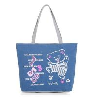 Screen Printed Carrier Bags / Custom Canvas Bags With Two Soulder Straps