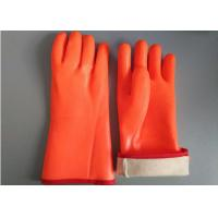 Wholesale Fluorescent Double Dipped PVC Gloves 35cm Length With Foam Insulated Liner from china suppliers