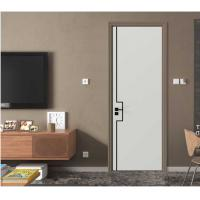 Buy cheap Newest Design Interior Home Doors with Stainless Steel Slots from wholesalers