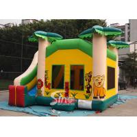 Wholesale Custom made outdoor tropical inflatable combo castle with slide made of lead free pvc tarpaulin from china suppliers