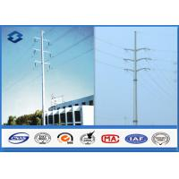 Wholesale 110KV 220KV Hot Dip Galvanized Electrical Power Pole , Transmission Line Tubular Steel Poles from china suppliers