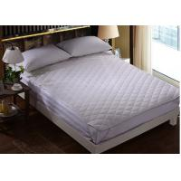 Wholesale Four - Corner Elastic Hotel Mattress Protector Feather Cotton And Outside Polyester Plain White from china suppliers