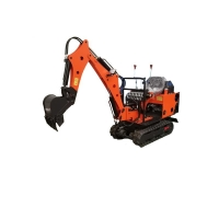 Wholesale 0.8T Small Digger 1 Ton Mini Excavator Machine With Rubber Track from china suppliers
