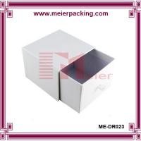 Quality Slidding paper drawer box, white color printing box for cosmetic ME-DR023 for sale