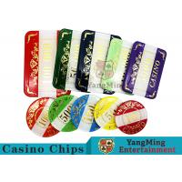 Wholesale Casino Style Numbered Poker Chip Set Bright Color With Customized Print Logo from china suppliers