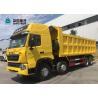 Buy cheap 420HP 8X4 29CBM T7H Sinotruk Howo Dump Truck Yellow from wholesalers