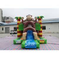 Outdoor kids commercial jungle monkey inflatable combo in monkey theme park for jumping from Sino factory