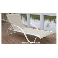 Outdoor aluminum textilene chaise lounge metal frame sun for Chaise aluminium textilene