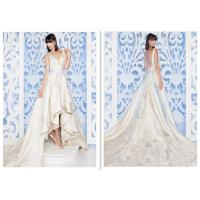 Exquisite Flower Leaf Simple Elegant Wedding Dresses With Soft Lace Train