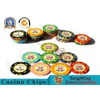 Quality 11.8g Colorful Casino Poker Chips And Cards / Custom Plaque Stickers for sale