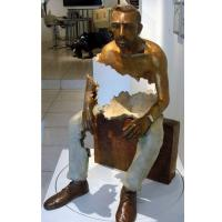 Wholesale Interior Landscape Design Life Size Bronze Sitting Man Sculpture from china suppliers