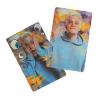 Wholesale Popular cartoon advertising 3D lenticular flip card print-PET PP material 3D lenticular business card with dynamic image from china suppliers