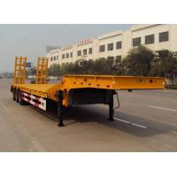 Buy cheap Tri-axle 60ton low bed semi trailer for heavy equipment transport from wholesalers