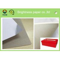 Wholesale 250g One Side Coated Grey Back Duplex Board Paper For Printing Box from china suppliers