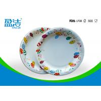 Wholesale 9 Inch Colored Disposable Paper Plates With Shiny Oil Coated Surface from china suppliers