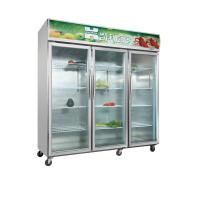 Wholesale Commercial Three Door Chilled Display Unit , 1500l Serve Over Display Fridge from china suppliers