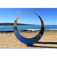 Wholesale Famous Outdoor Decoration Ring Sculpture Stainless Steel Modern Polished from china suppliers