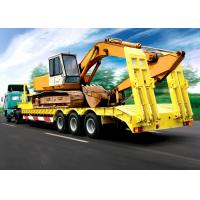Wholesale 60 Ton Fixed Low Deck Gooseneck Trailer / Low Flatbed Semi Trailer With 3 Axles from china suppliers