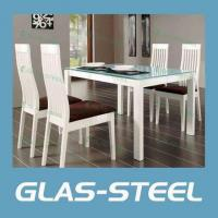 Quality Modern Home Furniture Glass Dining Table Glass Top for sale