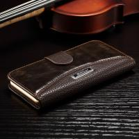 Anti - Dirt Iphone 6 Leather Wallet Case , Colorful Crazy Horse Leather Wallet Case