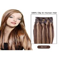 Quality Beauty Dream Girl Light Brown Hair Extensions Clip In Virgin Hair for sale