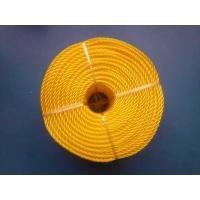 Buy cheap 3 Strand High Strength PP Monofilament Twisted Rope For Packing , Yellow Color from wholesalers