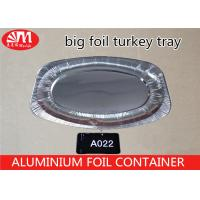 Wholesale Oval Disposable Turkey Roasting Trays , Tin Foil Baking Pans 2300ml Volume from china suppliers