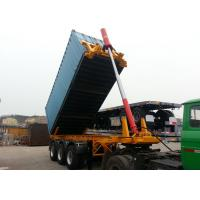 Wholesale Steel 20ft Skeleton Tipper Semi Trailer / Flatbed Tri Axle Container Chassis from china suppliers