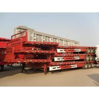 Wholesale Cargo transport semi trailer tri axle goose neck low bed semi trailer price from china suppliers