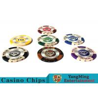 Wholesale 14g Custom Clay Poker Chips With Mette Sticker 3.4mm Thickness from china suppliers