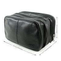Quality Genuine Leather Toiletry Bag Grooming Shaving Accessory Dopp Kit Portable Travel for sale