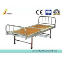 China Wooden Surface Steel Frame Medical Crank Hospital Bed With Plastic Bowls (ALS-M116) wholesale