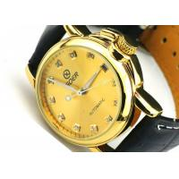 Wholesale Female Goer Ladies Automatic Watch Leather Band , Big Face Watch from china suppliers