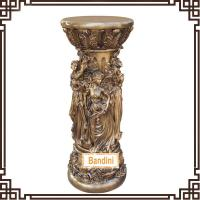 Wholesale craft pillar Roman Figure Pillars Lady Pedestal Classical Roman Pillar Design 865BK from china suppliers