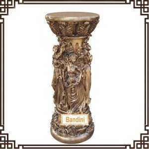 Wholesale craft pillar Roman Figure Pillars Lady Pedestal Classical Roman Pillar Design 865BK from china suppliers