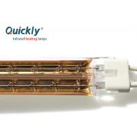Quality BOPET Horizontal Quartz Halogen Infrared Heater Lamps With Tungsten Fiklament for sale