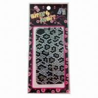 Wholesale 2012 Fashionable Mobile Phone Stickers, Measures 16x8cm from china suppliers