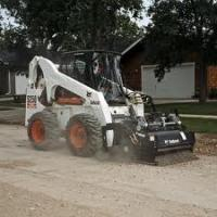 China Used Skid Steer Loader ,Used Bobcat Wheel Loader S250 ( With Planer ) on sale