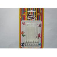 China White Flameless Spiral Birthday Candles White Cake Decoration With Holders wholesale