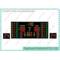 China Magnetic Indoor Game Electronic Basketball Scoreboard with Double 24s Shot Clocks and Time Display wholesale
