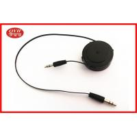 Wholesale One Way Retractable Audio Cable , 3.5mm Stereo Male To Male Audio Aux Cable from china suppliers