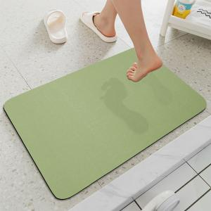 Wholesale OEKO-TEX Quick Dry Antibacterial Diatomite Bath Mat Water Absorption from china suppliers