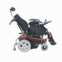 China Multi-Rehab Functions Power Wheelchair, Made of Aluminum, With United Handle Brakes on sale