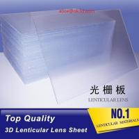 Wholesale lenticular manufacturer 70LPI PET 0.9MM 60X80CM for 3d lenticular printing by injekt print and UV offset print from china suppliers