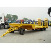 Wholesale 30T 3 Axle Drawbar Low Deck Trailer For Small Machine And Army Weapon Transit from china suppliers