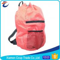 Wholesale Simple Design Coloured Drawstring Bags / Customized School Bags With Rain Cover from china suppliers