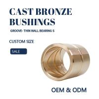 Wholesale Customzied Oil / Grease Groove Casting Bronze Sleeve & Flange Six To Eight Designs for Loaders from china suppliers