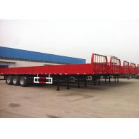 Wholesale 40 ft Drop Side Platform Semi Trailer 3 Axles , Cargo Transport Side Wall Trailer from china suppliers